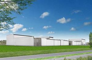 包装米飯新工場「サトウのごはん聖籠工場」の外観イメージ