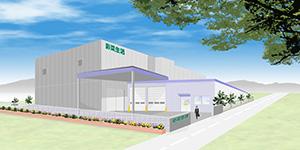 静岡県藤枝市に開設する植物工場の完成予想図