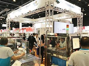 地元の有力代理店は日系企業の包装機や検査機などを多数扱う(写真はアジア・インテグレーテッド・マシーンズ)