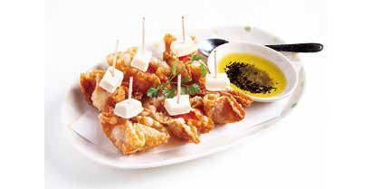 ワケありの盛り付け:ほぼ100%イタリアンな味「一口餃子酒場BLG 新宿西口…
