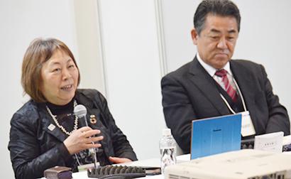栗田美和子社長(左)と津田俊二CEO