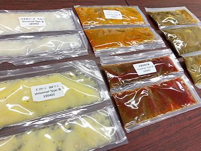 悠心、固形物入りレトルト食品に対応 充填機のシール技術開発