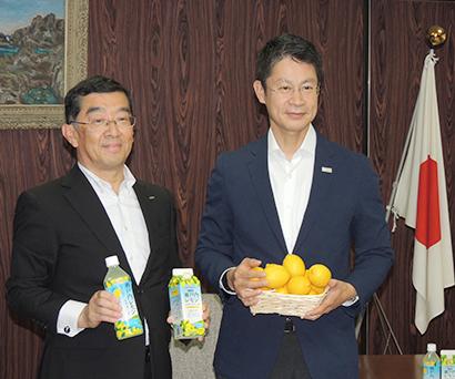 ポッカサッポロフード&ビバレッジ、大崎上島でレモン栽培
