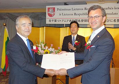 ジェーシー・コムサ 大河原毅氏がリトアニア名誉領事に 民間外交へ注力
