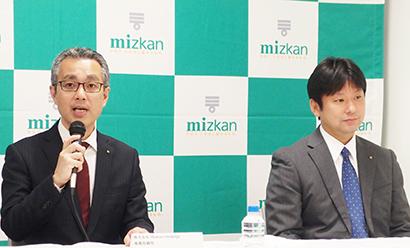 結城幸一 Mizkan Holdings専務取締役(左)と吉永智征 Mizkan社長兼CEO