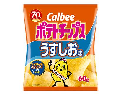 カルビー、「ポテトチップス うすしお味」リニューアル 食塩を約5%削減