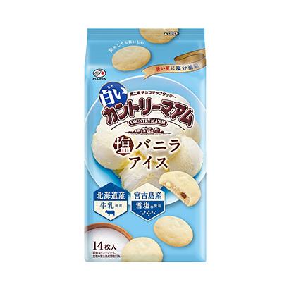 「白いカントリーマアム 塩バニラアイス」発売(不二家)
