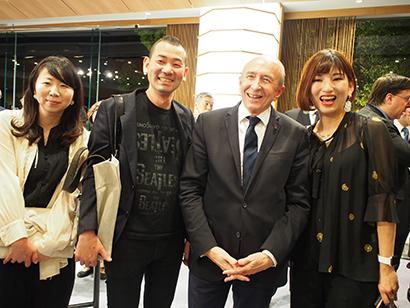 料理マスターズ特集:フランス・リヨン市長来日 浜田統之シェフら招待客を歓迎