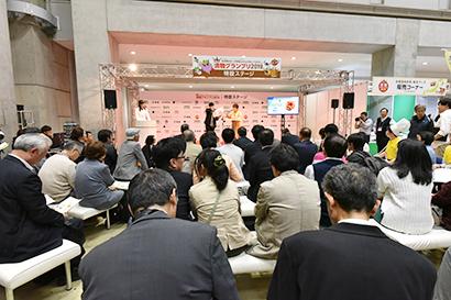 多くの来場者、関係者が注目するプレゼンテーション