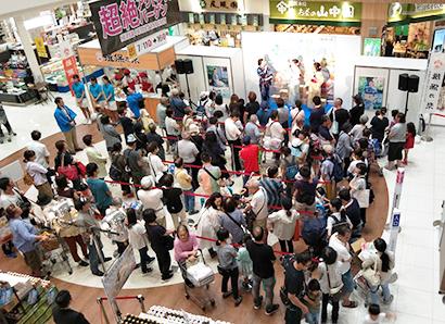 兵庫県手延素麺協同組合、「そうめんまつり」開催 2400食配布に長蛇の列
