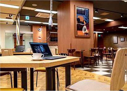 ポッカクリエイト「カフェ・ド・クリエ」、サンシャイン通り店を刷新、機能強化
