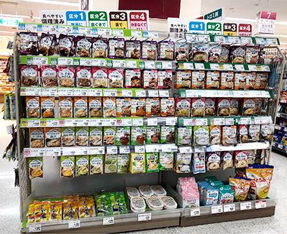 大手スーパーマーケット売場でのUDF陳列販売