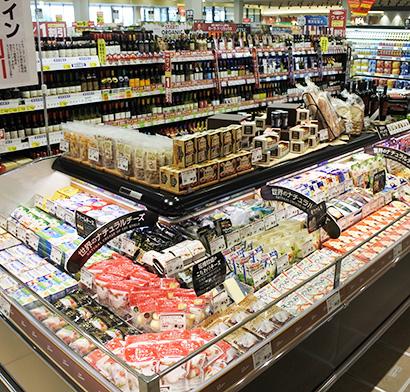 日欧EPAのワイン関税即時撤廃により、チーズと併売する売場作りも進む