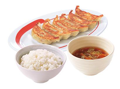ワンコイン定食の「餃子定食」500円(税込み)
