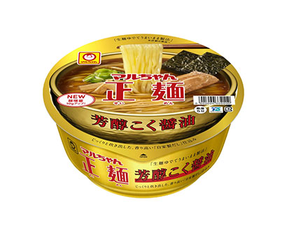 東洋水産、「マルちゃん正麺カップ」定番5商品を刷新 麺増量で満足感高める