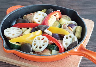 れんこんと霜降りひらたけ入りおしゃれグリル野菜