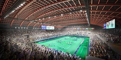 有明体操競技場、東京2020パラリンピック競技大会時の内観イメージ(2019年2月現在)/Tokyo2020提供