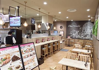 イオンフードスタイル新松戸店内の飲食コーナー「ちょいゴチ」は関東初。肉バル業態ではダイエー初