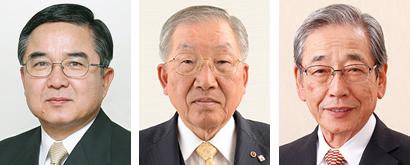 左から竹内康雄氏、大桑〓嗣氏(おおくわ・いくじ 〓は土へんに育)、岩田陽男氏