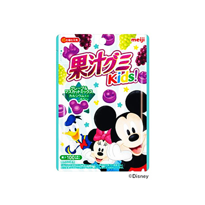 「果汁グミキッズ グレープ&マスカットミックス」発売(明治)