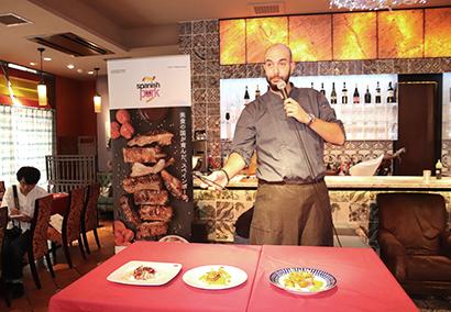 スペイン大使館、豚肉キャンペーンのキックオフイベント開催 モレノシェフ招致