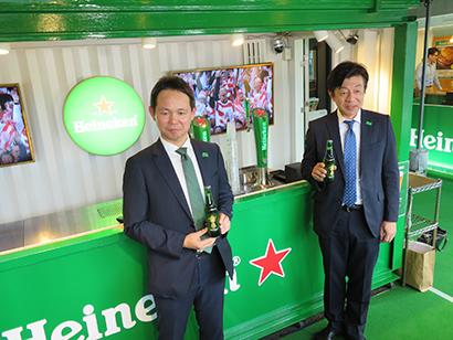 キリンビール、ラグビーW杯盛り上げで「ハイネケンガーデン大阪」を限定オープン