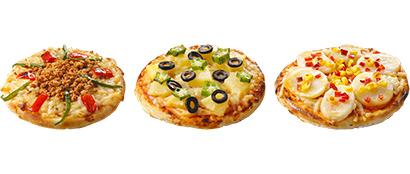 マリンフード、家庭用ビーガン対応ピザ3アイテムを発売