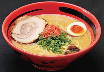 えびしお 830円(税込み)スープは塩味、味噌味、醤油味の3種類。エビ油とエビ粉を加えたスープが特徴。「そのまま」「ほどほど」「あじわい」の3段階の濃さが選べる