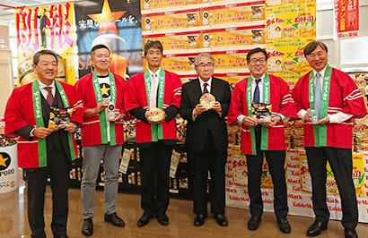 同郷出身の5社長が福島復興願いコラボ ヨークベニマル横塚店でイベント