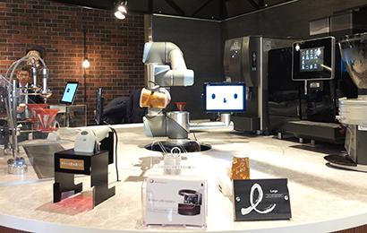 エビスタ西宮店内に「カフェロボット」店長 AI搭載で接客も