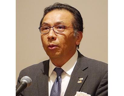 堀井一彦会長(カゴメ大阪支店長)