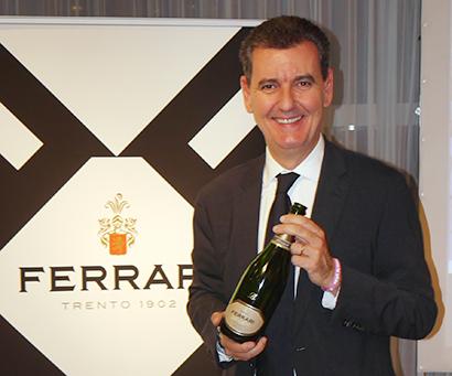 試飲セミナーのために来日したマルチェロ・ルネッリフェッラーリ社副社長