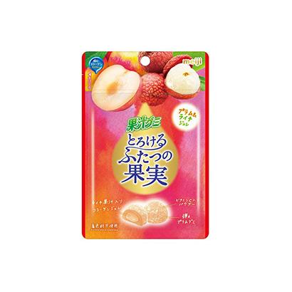 「果汁グミとろけるふたつの果実 プラム&ライチ」発売(明治)