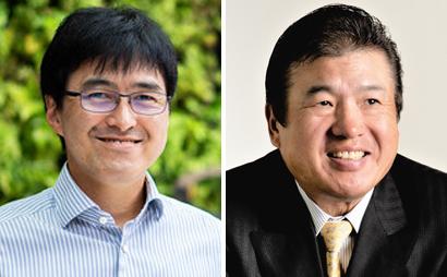 (左)岡本晴彦氏、(右)新井泰道氏