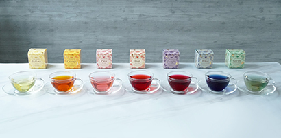 日本緑茶センター、7色の「カラーハーブティー」発売