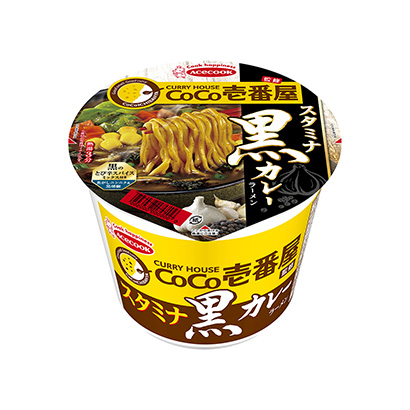 「CoCo壱番屋監修 スタミナ黒カレーラーメン」発売(エースコック)