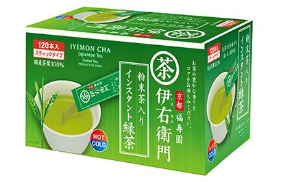 新製品「伊右衛門粉末茶入りインスタント緑茶」