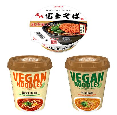 即席麺特集:ヤマダイ 名代富士そば「紅生姜天そば」人気 コラボ商品など露出増