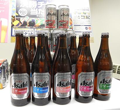 アサヒは東京五輪のテーマカラーをデザインした「スーパードライ 大会ルックデザインラベル」を本日投入