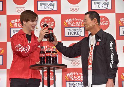 コカ・コーラシステム、オリンピック観戦チケットキャンペーンボトル発売