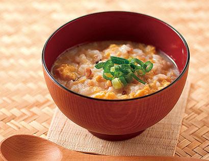 「もち麦と生姜の雑炊」