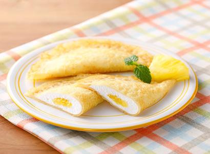全国学校給食週間特集:一押し商品=日東ベスト「フレンズクレープ沖縄県産パイン…
