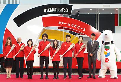 日本コカ・コーラ、「東京2020オリンピック聖火リレー」PRイベント開催