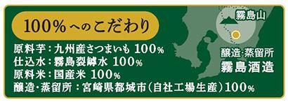 霧島酒造、「100%へのこだわり」主要5銘柄で訴求