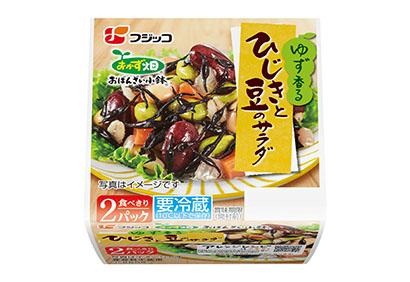 フジッコ、「おかず畑おばんざい小鉢」サラダシリーズに「ひじきと豆」追加