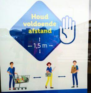 オランダの食品スーパーも感染予防を徹底 入店制限を守らなければ罰金も