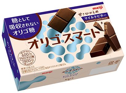 明治、フラクトオリゴ糖使用「オリゴスマートマイルドビターチョコレート」発売