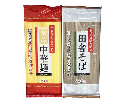 池島フーズ、家庭用乾麺2品を投入 「田舎そば」と「絶品中華麺」