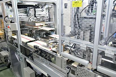 揖保乃糸資料館「そうめんの里」の完全自動化包装システム