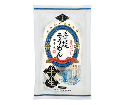 全国麺類特集:岡山・愛媛地区=かも川手延素麺 「一番のばし・手延半生そうめん…